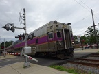 Commuter Rail train at Melrose Highlands