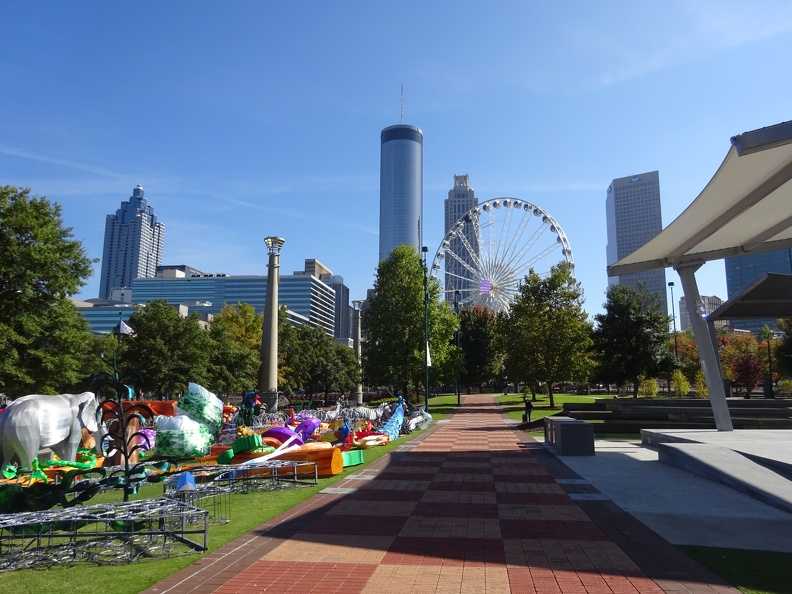 Centennial Olympic Park - view of SkyView ferris wheel