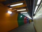 Rainbow tunnel in State St station